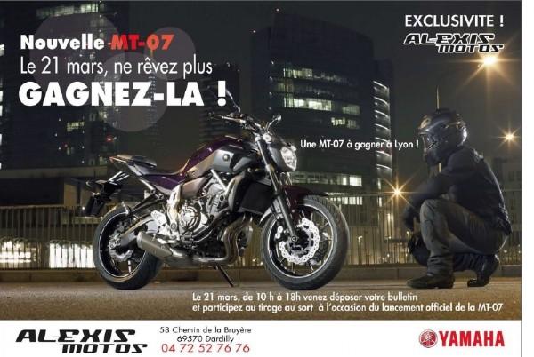 Gagnez vôtre MT07 le 21 Mars lors de la présentation officielle!!!